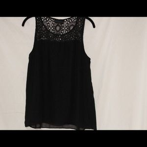 Attention - Black Lacey top